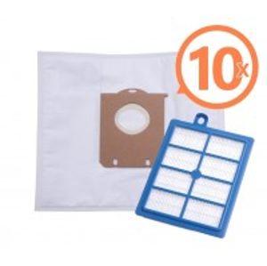 SBAG vrecka textilné 10 ks + HEPA filter do vysávačov Electrolux a Philips